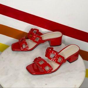 NEW Intentionally Blank sharpy cherry heels